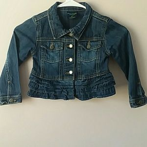 Genuine kids ruffle denim jacket 4t